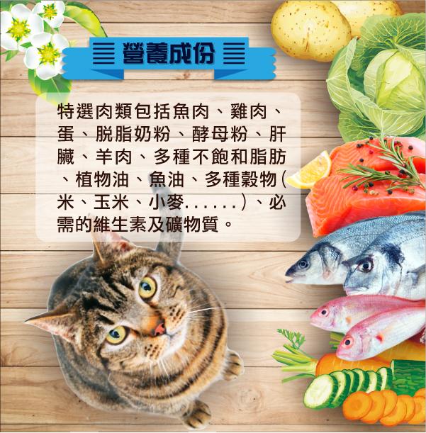 食材嚴選,全面照顧喵星人飲食健康│全球寵物-小淘氣貓乾糧