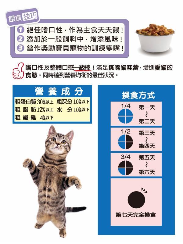 可添加於一般飼料中,增進愛貓食欲│全球寵物-小淘氣貓乾糧