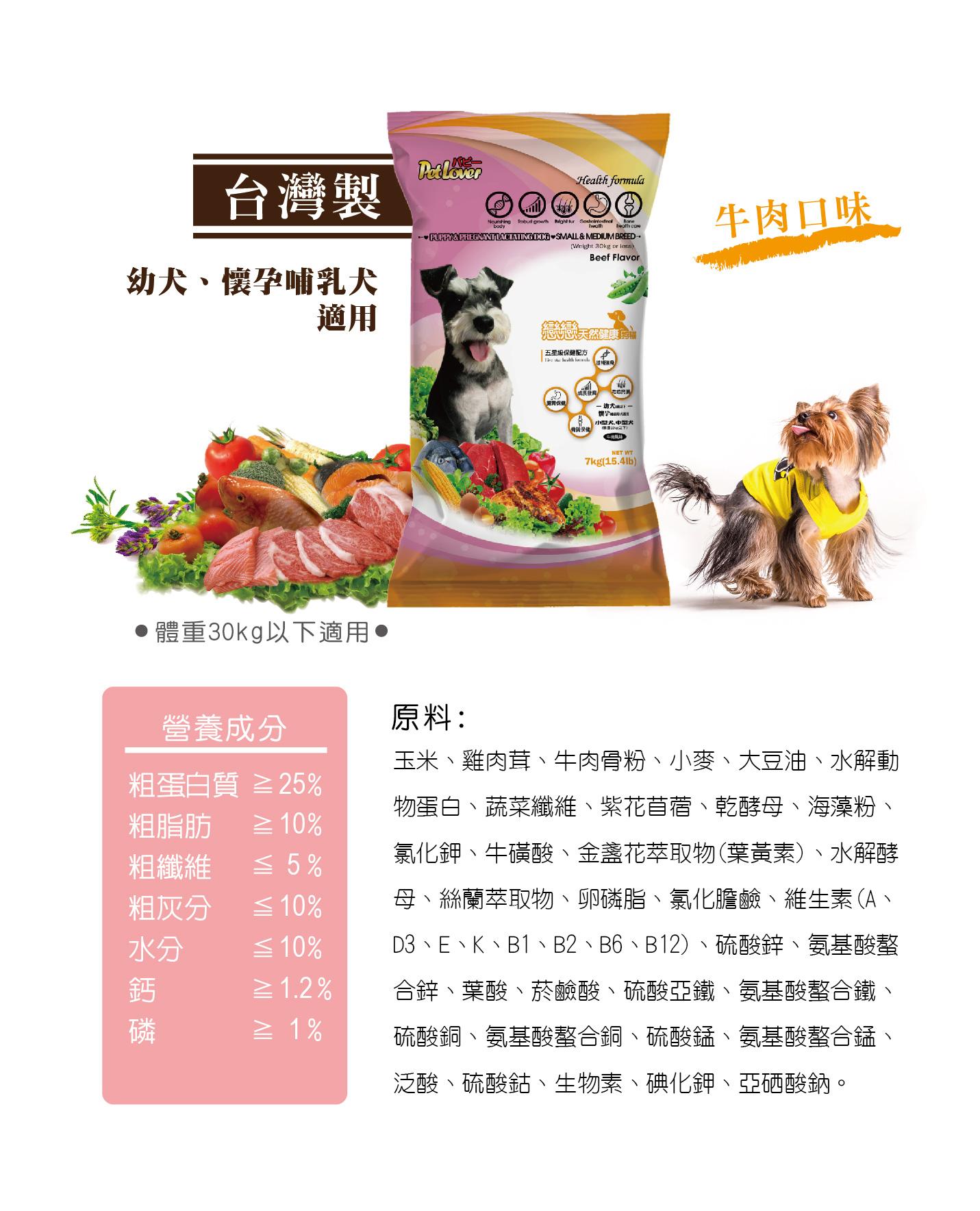 幼犬及懷孕哺乳犬適用,牛肉口味狗飼料 | 全球寵物